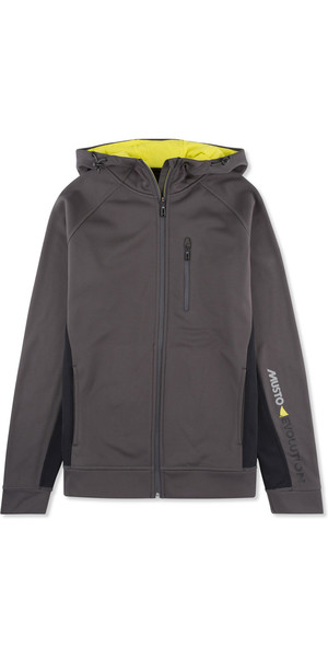 Sweat zippé à capuche avec logo Musto Evolution CHARCOAL EMSW012