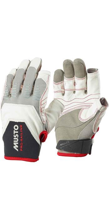 Musto Evolution Sailing Short Finger Glove in White Lightweight Flexible Gloves Designed for Sailling Adults Unisex