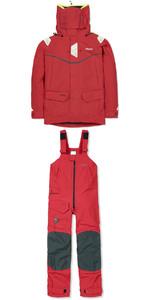 MUSTO MPX GORETEX Offshore Jacket SM1513 + Trouser SM1505 Combi Set RED