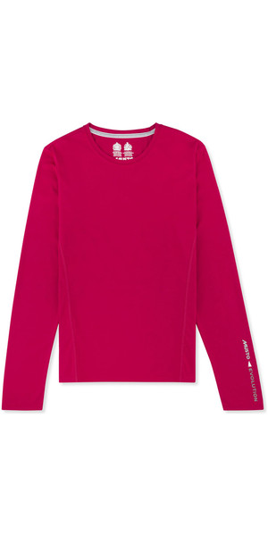Musto Womens Evolution Sunblock Long Sleeve Tee CERISE EWTS009