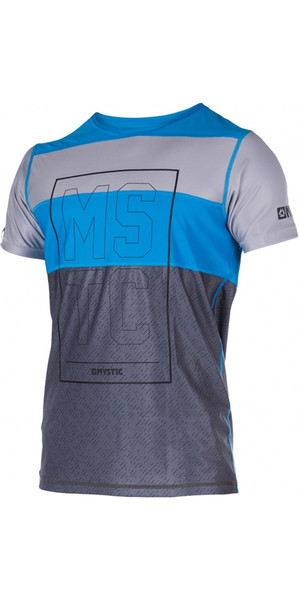 Mystic Drip Loosefit Quick Dry Short Sleeve Rash Vest Blue 170287