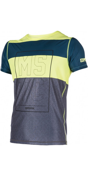 Mystic Drip Loosefit Quick Dry Short Sleeve Rash Vest Lime 170287