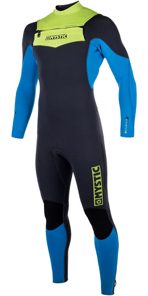 Mystic Star 3/2mm GBS Chest Zip Wetsuit - Lime 170050
