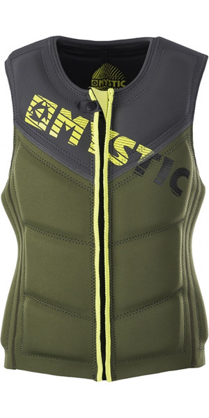 Mystic Star Front Zip Wake Impact Vest Army 150565
