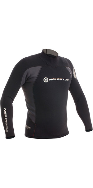 2018 Neil Pryde Raceline 3/2mm Neoprene Top Black 630140