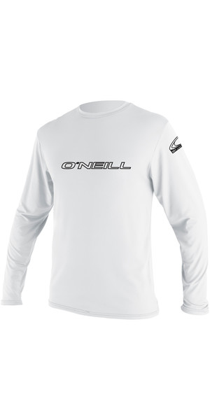 2018 O'Neill Basic Tee-shirt à manches longues Rash WHITE 4339