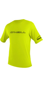 2019 O'Neill Herre Basic Skins Short Sleeve Rash Tee LIME 3402