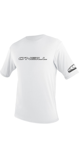 2018 O'Neill Basic Tees manches courtes Rash WHITE 3402