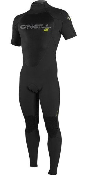2018 O'Neill Epic 3/2mm Short Sleeve GBS Back Zip Wetsuit BLACK 4732