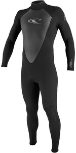 O'Neill Hammer 3/2mm Back Zip Wetsuit BLACK 4291 - WAREHOUSE 2ND