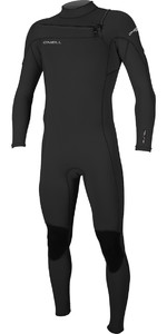 2019 O'neill Hammer 3/2mm Chest Zip Wetsuit Preto 4926