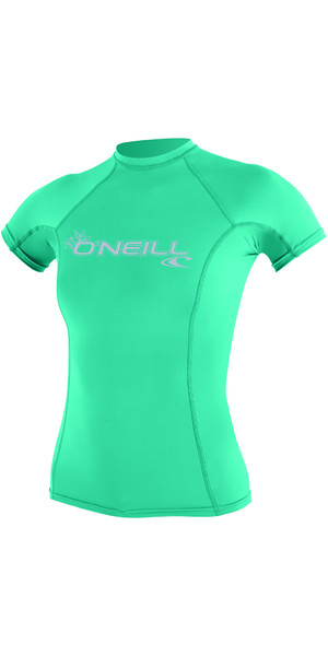 2018 O'Neill Ladies Basic Skins manches courtes Rash Vest SEAGLASS 3548
