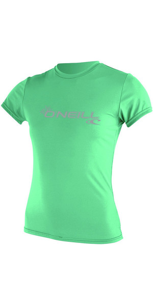 2018 O'Neill Ladies Basic Skins Short Sleeve Rash Tee SEAGLASS 3547