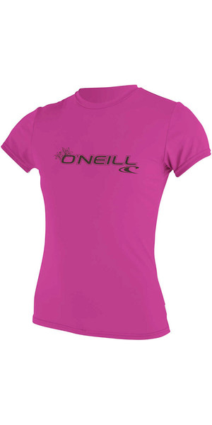 2018 O'Neill Ladies Basic Skins Tee-shirt manches courtes Rash FOX PINK 3547