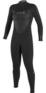 O'Neill Womens Epic 4 / 3mm Voltar Zip GBS Wetsuit PRETO 4214