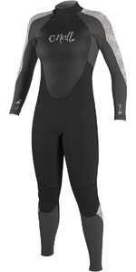 O'Neill Womens Epic 4/3mm Back Zip GBS Wetsuit BLACK / GRAPH / VIDA 4214