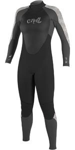 O'Neill Womens Epic 4/3mm Back Zip GBS Wetsuit BLACK / GRAPH / VIDA 4214