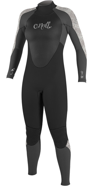 2018 O'Neill Mujeres Epic 4 / 3mm Volver Zip GBS Wetsuit BLACK / GRAPH / VIDA 4214