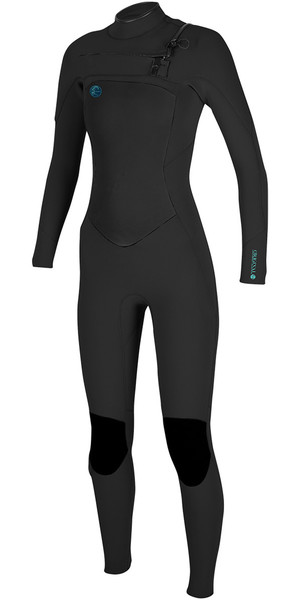 2018 O'Neill Ladies O'Riginal 5 / 4mm Chest Zip Wetsuit NERO 4997