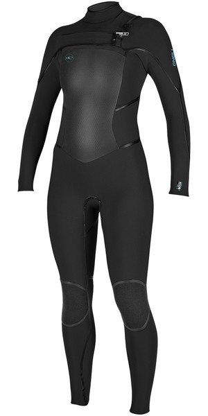 2018 O'Neill Womens Psycho Tech 5 / 4mm Chest Zip Wetsuit NEGRO 4989