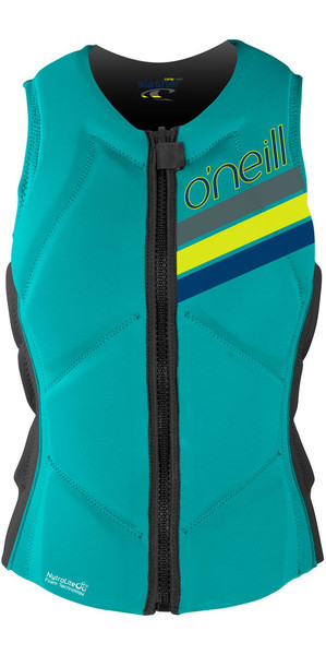 O'Neill Ladies Slasher Comp Chaleco de impacto LIGHT AQUA / GRAPHITE 4938EU