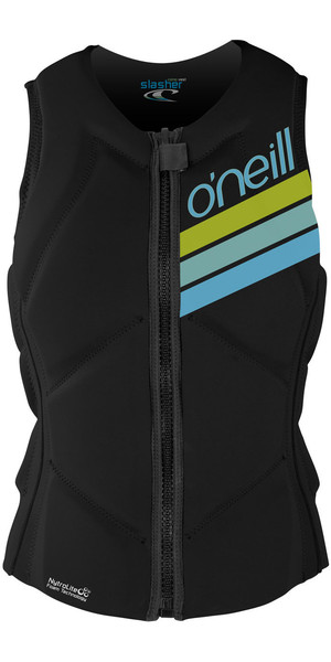 2018 O'Neill Womens Slasher Comp Impact Vest BLACK 4938EU