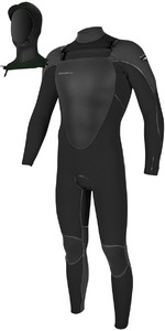 O'Neill Mutant 5/4mm Hooded Chest Zip Wetsuit BLACK / GRAPHITE 4762 - 2ND