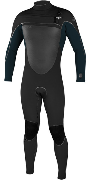 2018 O'Neill Psycho Freak 4/3mm Chest Zip Wetsuit BLACK 4960