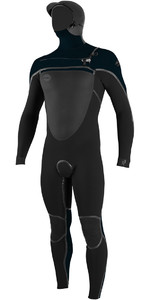 2018 O'Neill Psycho Tech 6/4mm Hooded Chest Zip Wetsuit BLACK 4985