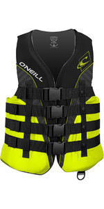 O'neill Superlite Giubbotto Antiurto 50n Ce Nero / Lime / Fumo 4723
