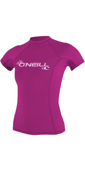 2019 O'Neill Damen Basic Skins Kurzarm Crew Rash Weste FOX PINK 3548