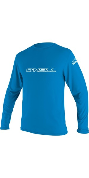 2018 O'Neill Youth Basic Skin a manica lunga Rash Tee BRITE BLUE 4341