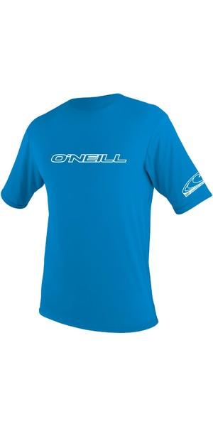 2019 O'Neill Youth Basic Skins Short Sleeve Rash Tee BRITE BLUE 3422
