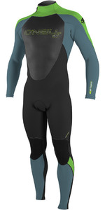 2018 O'Neill Youth Epic 5 / 4mm Bagside GBS Wetsuit BLACK / BLUE / DAYGLO 4219