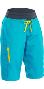 2019 Palm Damen Horizon Kanu / Kayak Shorts Aqua 12125