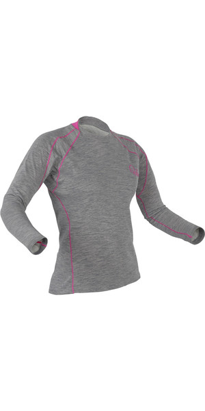 2019 Palm Damen Arun Langarm-Base-Layer in Heather Grey 11449