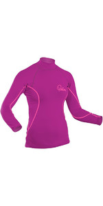 2020 Palm Womens Long Sleeve Rash Vest PLUM 12194