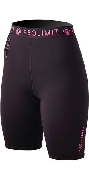 Prolimit Damen SUP 1mm Neopren Shorts Schwarz / Pink 54485