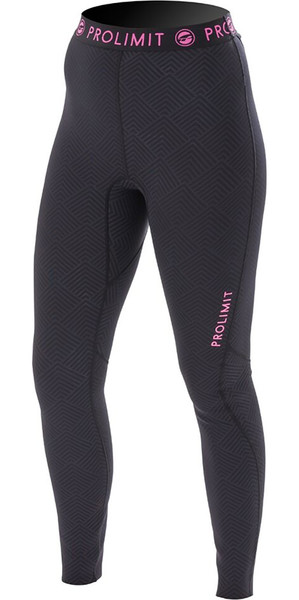 Prolimit womens SUP Athletic rapide Dry Pantalon Noir / Rose 64760