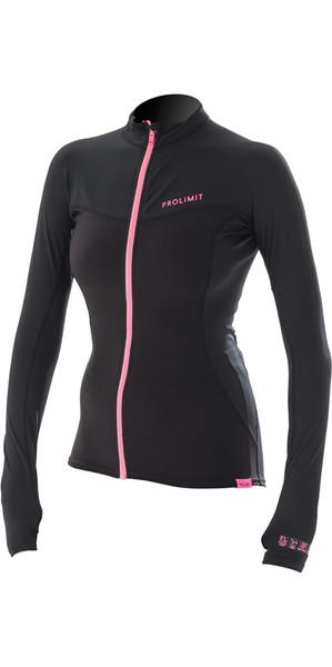 2018 Prolimit Womens Loosefit Quick Dry SUP Top negro / rosa 84700