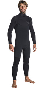 2019 Rip Curl Mænds Dawn Patrol 3/2mm Chest Zip Våddragt Sort Wsm7am