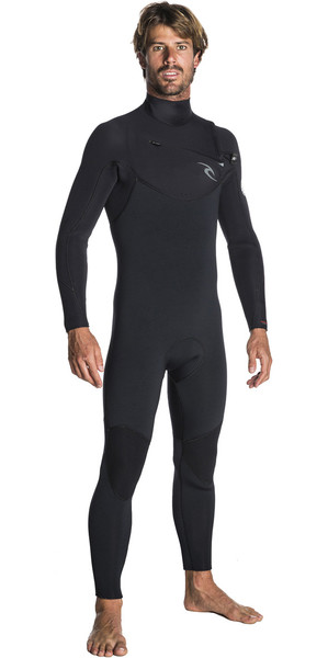 2019 Rip Curl Dawn Patrol 5 / 3mm Chest Zip Wetsuit NERO WSM7GM