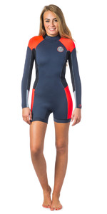 Rip Curl Dawn Patrol Manga Comprida 2mm Back Zip Shorty Wetsuit Ardósia Wsp4gw