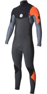 2018 Combinaison Rip Curl E-Bomb 4 / 3mm Zip Wetsuit ORANGE WST7BE