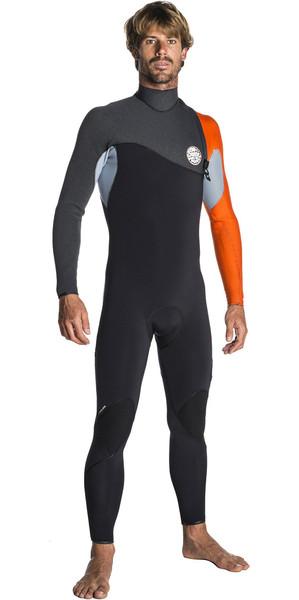 2017/18 Rip Curl Flashbomb 3/2mm Zip Free Wetsuit ORANGE WSM7RF