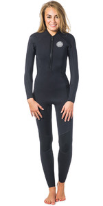 Rip Curl Ladies G-Bomb 2mm Frente Zip Neopreno Negro WSM6HW