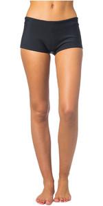 2019 Pantaloncini Da Donna Rip Curl G-bomb Boyleg 1mm Neoprene Nero Wsh4aw