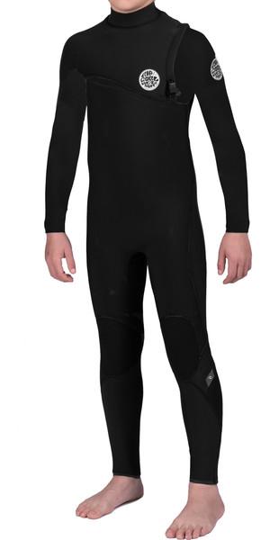 Rip Curl Junior Flash Bomb 4/3mm GBS Zip Free Wetsuit BLACK WSM6MB