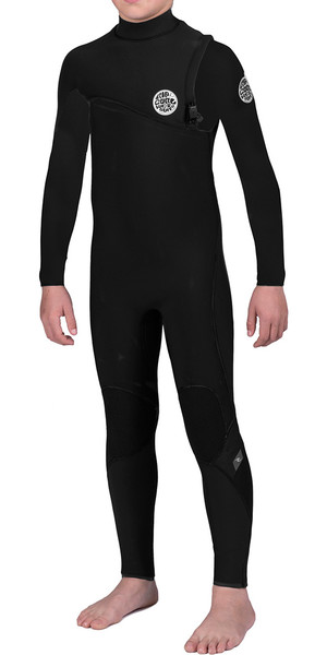 Rip Curl Junior Flash Bomb 5/3mm GBS Zip Free Steamer Wetsuit Black WSM6NB