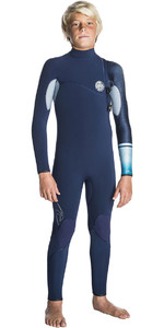 Rip Curl Junior Flashbomb 4 / 3mm Zip Free Wetsuit NAVY WSM7MS